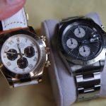 ロレックス・デイトナとオーデマ・ピゲなど他の腕時計とを比べてみる。けっこう小ぶり