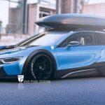 スーパーカー・スポーツカーをワゴンにしてみた画像。BMW i8、ヴァイパーほか