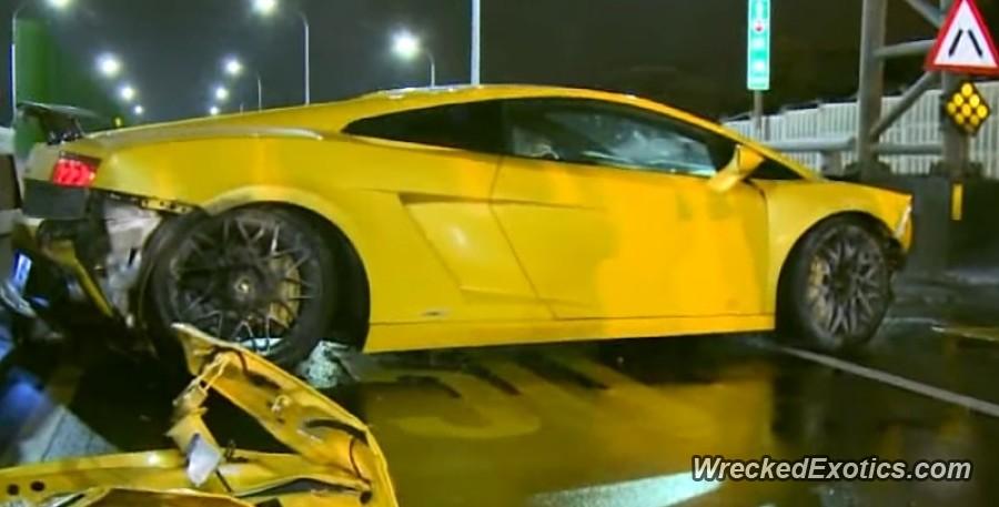 Boyfriend blames girlfriend for Lamborghini crash