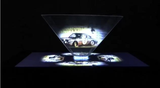 porsche ad 911 hologram ポルシェ ホログラム 広告