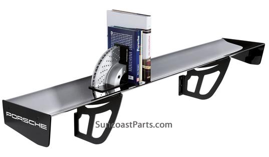 porsche gt3 cup wing spoiler wall shelf