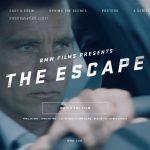 BMWが短編映画「エスケープ」公開。BMW5シリーズを駆る男がダコタ・ファニングとともに逃亡