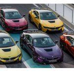 BMWアブダビがカスタムされたi8を一気に6台公開。グリーンやパープルなど