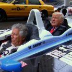 トランプ氏が元F1チャンプの運転にて、NYをタンデム仕様インディカーで爆走する動画