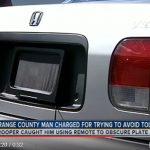 スパイ映画よろしくナンバープレートを遠隔操作で「隠す」デバイスを使用した男が逮捕に