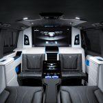 ブラバスがベンツのバンを豪華ビジネス仕様に。40インチモニタ、コーヒーメーカーも装備