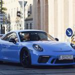 ポルシェ一族の乗る新型911GT3が目撃に。内外装がカスタムされたオシャレな仕様
