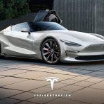 新型テスラ・ロードスターはこうなる?というレンダリング。トヨタFT-1をベースに作成