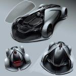 アーティストの考えた「ポルシェX」。遠隔操作による無人レースカーが公開に