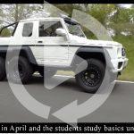 日本自動車大学校がジムニーをベースにメルセデスAMG G63 6x6制作。実車を忠実にダウンサイズ