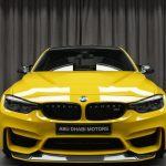 BMWアブダビがポルシェ純正色「スピードイエロー」にペイントしたカスタムM3を展示