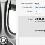 ebayにてアウディTT用パーツ検索。けっこう面白いパーツもあったりして「使える」模様