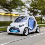 スマートから「ヴィジョンEQコンセプト」登場。人が運転しない「完全自動運転」コミューター
