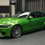 BMWアブダビがグリーンのカスタムM3公開。Mパフォーマンス製パーツフル装備