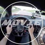 ノーマル比+200馬力、803馬力にチューンしたアウディR8の加速動画。メーターの動きには要注目
