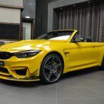 BMWアブダビがポルシェ純正色「スピードイエロー」にカスタムされたM4コンバーチブル公開