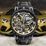 ランボルギーニとロジェ・デュブイが提携。アヴェンタドールをイメージした腕時計を発売