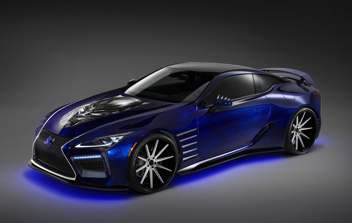この画像には alt 属性が指定されておらず、ファイル名は Lexus_LC_Black_Panther_Inspired_01.jpg です