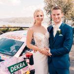 メルセデスAMGのDTMドライバーが結婚→本物のDTM用レーシングカー(結婚式仕様)で登場