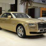 アブダビより、ゴールドの2トーン外装、内装はホワイトのカスタム・ロールスロイスが登場