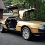 5台のみが生産された「金メッキ」デロリアン。ebayに登場するもその価格は1700万円