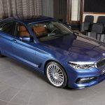 本家BMW M5よりパワフルで速い「新型アルピナB5」がさっそく展示。ラインはブラック