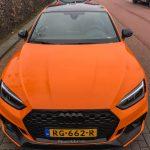 オランダにて高レベルカスタム、「ブラック/オレンジ」にこだわったアウディRS5