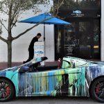 おそらく最も「思い切った」カスタムのマクラーレン650S。ペンキをぶっかけアートカー風に