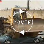 フィリピンにて、不正に関税を逃れた車が一斉に「公開処刑」。公衆の面前でブルドーザーによって破壊される