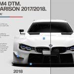 BMWが2018年仕様の「M4 DTM」を公開。ダウンフォース軽減で0-100キロ加速2.6秒以下?