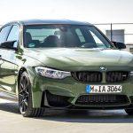 BMW自らがカスタムしたM3を公開。ミリタリー風カラー、カーボンルーフには「Mストライプ」