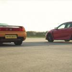 【動画】初代NSXと最新シビック・タイプRとの加速・ブレーキング対決。驚きの結果を見てみよう