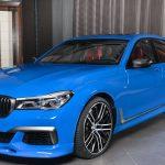 BMWアブダビによる7シリーズ最新カスタム。大きなボディに明るいブルー、オプション満載