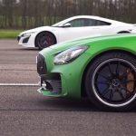 【動画】ホンダNSX VS メルセデスAMG GT R。駆動方式、レイアウト、パワートレーンが全く異なる二台の加速勝負は?