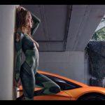 【動画】ミリタリーな美女が任務でランボルギーニ2台をぶっ飛ばす!これは永久保存版