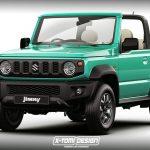 【レンダリング】もしも新型スズキ・ジムニーにオープンやピックアップトラックが存在したら?