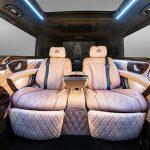 メルセデス・ベンツのバンを「マイバッハ仕様」に改造したチューナー登場。超ストレッチ、内装にはPS4や大型モニターも
