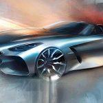 "BMWが新型Z4""ファーストエディション""のティーザー画像を公開。ペブルビーチでの発表は明日の予定"