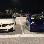 【動画】BMWM3とテスラ・モデル3との加速対決。なんとM3はモデル3にまったく歯が立たず
