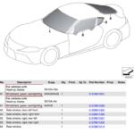 新型トヨタ・スープラのパーツリスト流出。エンジンは3種類、「Supra」文字は新フォント
