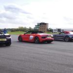 【動画】意外と多い「スーパースポーツのオープンモデル」。R8、AMG GT、570S、i8がその加速を競ってみた