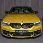 明るいカラーの大型セダンは魅力!BMWアブダビがイエローのカスタムM5を公開