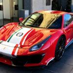 """フェラーリ488ピスタのスペシャルモデル、""""ピロティフェラーリ""""納車第一号!?フェラーリが認めるセレブへと納車"""