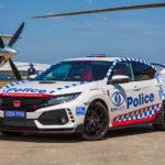 オーストラリアにて、ホンダ・シビック・タイプRがパトカーとして納車!人々の安全意識を高めるためにSNSを通じて今後拡散されてゆくことに