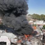 世界有数のポルシェコレクターのガレージ一帯がガス爆発で吹き飛ぶ。現状では詳細不明なるもガレージの屋根が崩落している模様