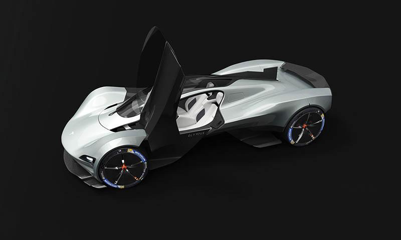 テスラがハイパーカーを作ったら?シザースドア装備、ヴァルキリー風の未来派レンダリングが公開に