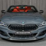 BMWアブダビが早速8シリーズ・カブリオレをカスタム!特別ペイントのグレーに内装はレッド、各部はピアノブラックに