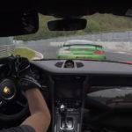 【動画】画面越しにでも恐怖を感じるほどの速さ!ポルシェ911GT3 RS、メルセデスAMG GT Rがニュルでバトル。他の車が止まって見える別次元の速さを見せる