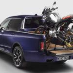 """まさかの公式!BMWがX7をベースにした、自社のバイク搭載前提の""""世界一豪華な""""ピックアップトラックを突如公開"""