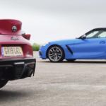 【動画】BMW Z4とトヨタ・スープラとの加速競争。スープラがZ4を大きく引き離し、ポルシェ911ターボなみのタイムを記録する